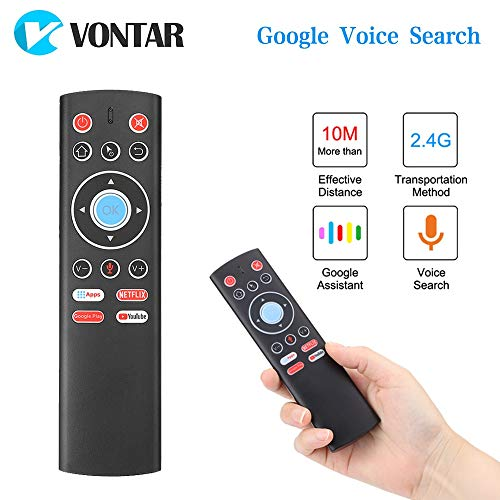 Calvas Voice Remote Control T1 2.4G Wireless Air Mouse Gyro For Android TV BOX Google Play Netflix Youtube X88 Pro H96…