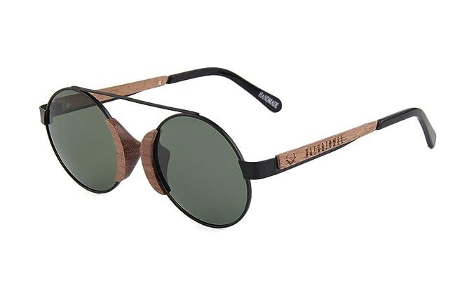 79b2c203c6c73 NATURJUWEL - Gafas de sol madera negras polarizadas UV 400 design aviador  vintage retro mujer y hombre unisex  Amazon.es  Ropa y accesorios