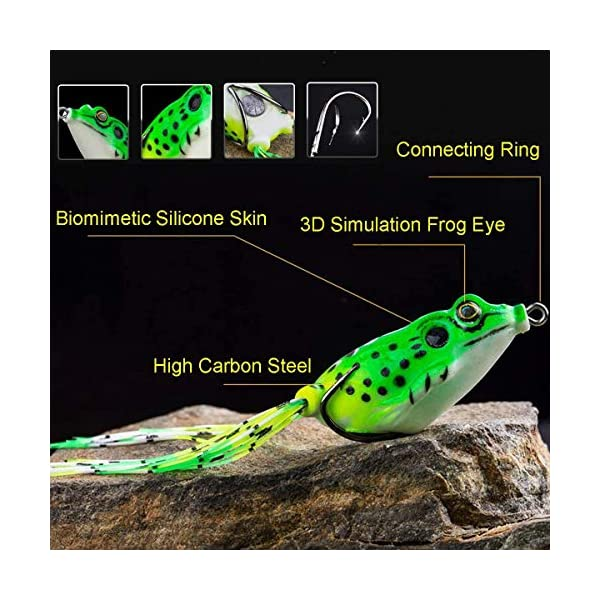 Soft Silicone Rubber Frog Lure Bait Topwater Lifelike Simulation Fishing Lure