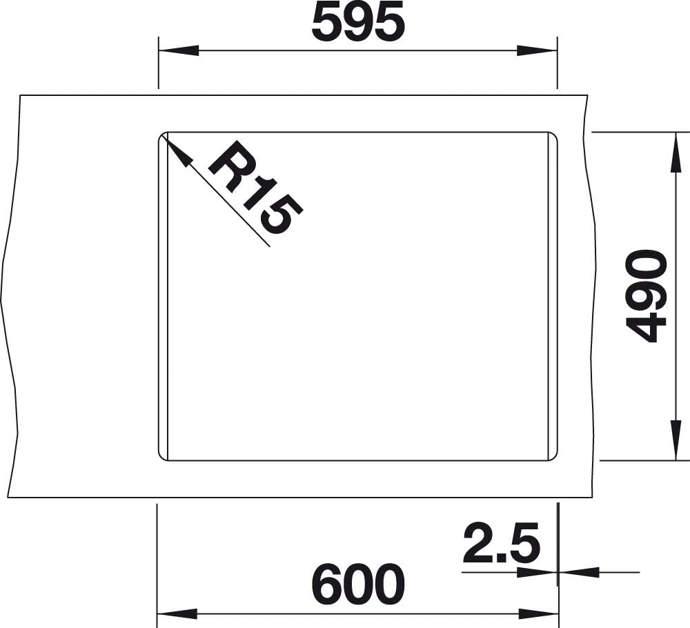 BLANCO 523687/pleon 6/6/SILGRANIT PuraDur avec t/él/écommande rochers d/écoulement Gris