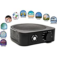 Baby White Noise Sound Machine for Sleeping - Premium Noise Cancelling Portable Device - Timer & 10 Soothing Natural Sounds Will Give Adults and Kids The best Sleep - Perfect Baby Shower Gift