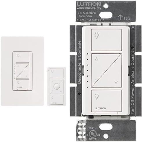 New ! Lutron Caseta Wireless 150-Watt Single-pole In-Wall Dimmer Kit White