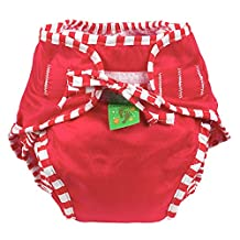 Kushies Baby Unisex Swim Diaper - Medium,Red Solid,Medium,