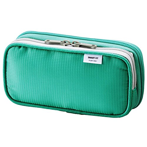 LIHIT LAB. Double Pen Case, Green, 3.3 x 6.9