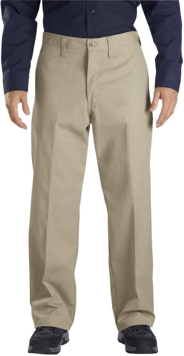 Dickies Occupational Workwear LP812CH 30x30 Polyester/Cotton Relaxed Fit Men's Industrial Flat Front Pant with Straight Leg, 30 Waist Size, 30 Inseam, Dark Charcoal 30 Waist Size 30 Inseam