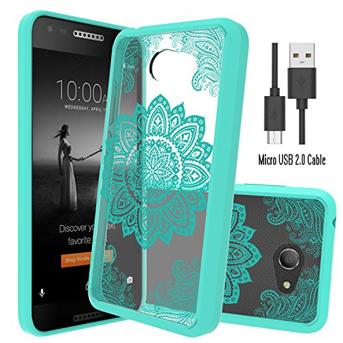 Alcatel A30 Case,Alcatel Kora Clear Case With Micro USB 2.0 Cable,Wtiaw [Scratch Resistant] Acrylic Hard Cover With Rubber TPU Bumper Hybrid Ultra Slim Protective For Alcatel A30-GQ - Gq Sunglasses