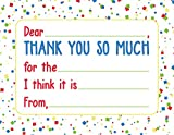 Jot & Mark Thank You Notes for Kids 20 Flat Cards with Self-Sealing Envelopes Included