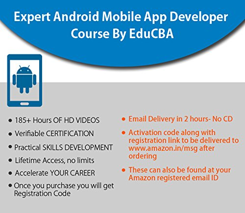 Expert Android Mobile App Developer Course By EduCBA( Email Delivery in 2  hours - No CD)
