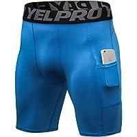 Shengwan Pantalones Cortos de Compresión Hombre Correr Gimnasio