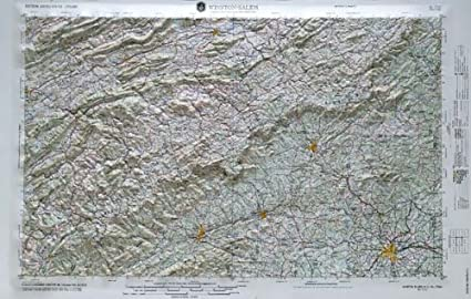 Relief Map Of Virginia.Amazon Com Winston Salem Regional Raised Relief Map In The States