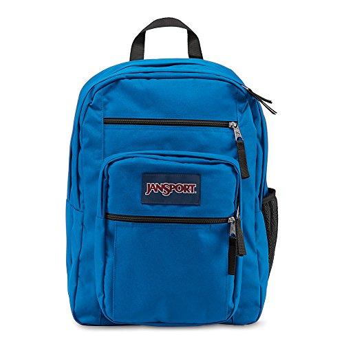 Jansport Big Student Backpack, Stellar Blue - Front Water Bottle Pocket