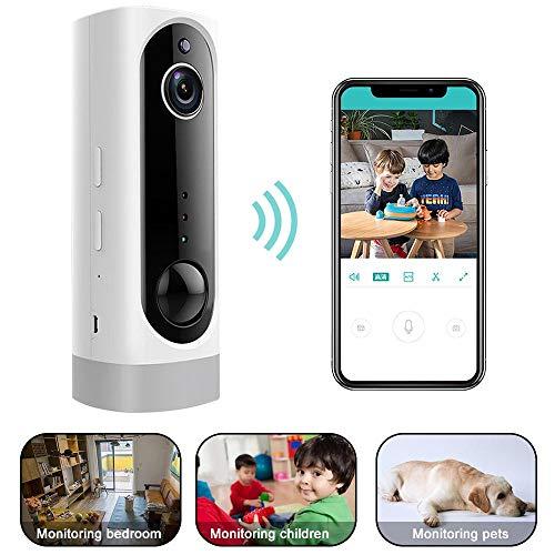 KOBWA - Cámara IP inalámbrica WiFi HD 1080P AP PIR de dos vías, sistema de vigilancia de seguridad recargable con visión...