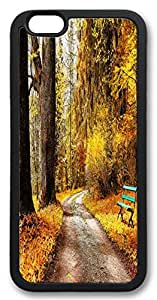 Fantastic Faye PC Material Beautiful Autumn Yellow Leaves Trees Street Road Chair Nice Design Cell Phone Cases For iPhone 6 No.4