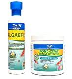 API Pond Care Bundle, Pond-Zyme Sludge Destroyer & AlgaeFix, 8-Ounce Each