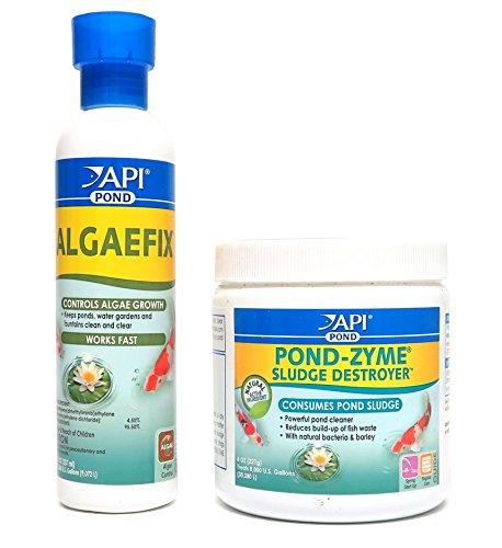 API Pond Care Bundle, Pond-Zyme Sludge Destroyer & AlgaeFix, 8-Ounce Each ()