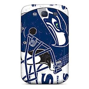 Samsung Galaxy S3 KJj13686aIar Unique Design Stylish Seattle Seahawks Pictures Shockproof Hard Phone Case -SherriFakhry