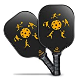 Niupipo Pickleball Paddle - Lightweight Pickleball Paddles Set 7.6oz Graphite Pickleball Rackets Honeycomb Composite Core Pickleball Racquet Edge Guard Ultra Cushion Grip Pickleball Paddles