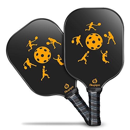 Niupipo Pickleball Paddle - Lightweight Pickleball Paddles Set 7.6oz Graphite Pickleball Rackets Honeycomb Composite Core Pickleball Racquet Edge Guard Ultra Cushion Grip Pickleball Paddles by Niupipo