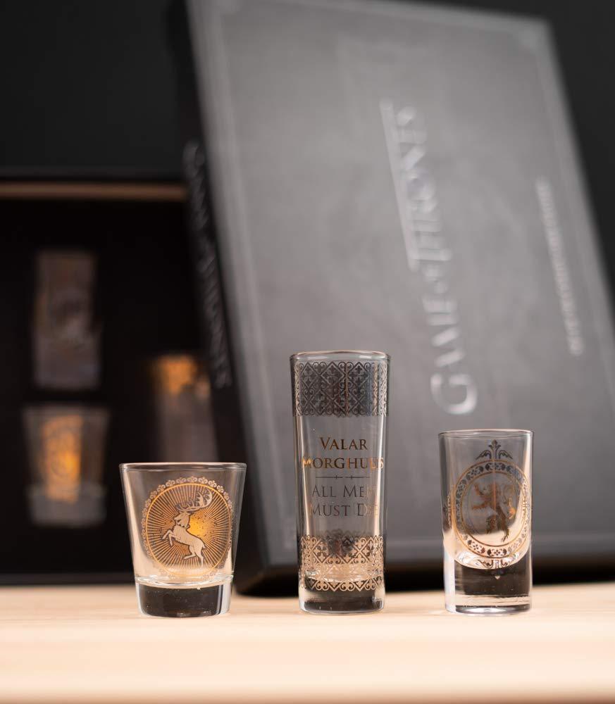 1 GLSSGT01 Multicolore 1 Game of Thrones Bicchieri Set of 6 Black And Gold Premium Set di of Thrones