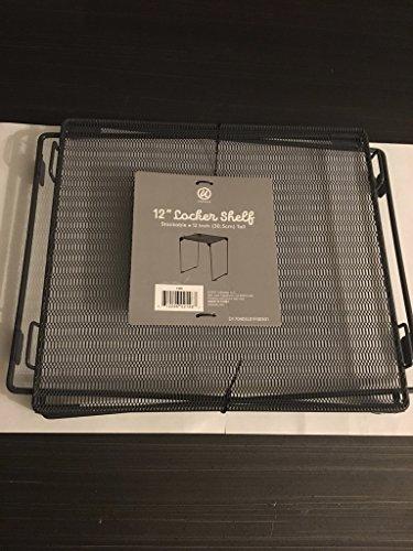 Stackable Metal Locker Shelf | Holds 30 lbs. | Fits 12 Inch Width Lockers | School, Gym, Sport Locker Shelf Organizer (Blue)