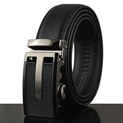 Automatic Buckle Ratchet Click Belts for Men Mens Comfort Genuine Leather Dress Belt