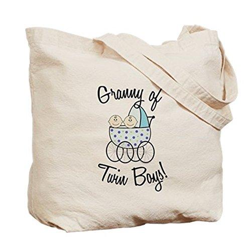 Cafepress–Granny di doppio ragazzi.–Borsa di tela naturale, tessuto in iuta