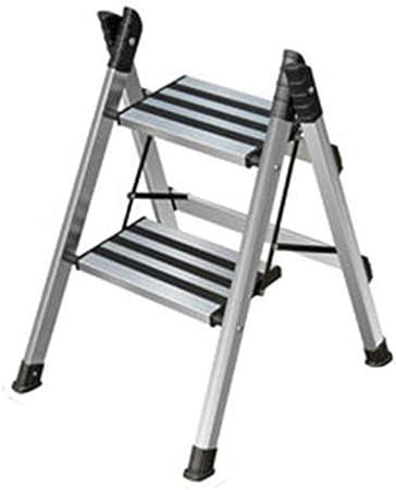 Taburetes Escalera Escalera Plegable para El Hogar Aleación De Aluminio Engrosada Escalera De Dos Peldaños Raspa De Arenque Multifuncional Escaleras Retráctiles Escalera Ascendente: Amazon.es: Hogar