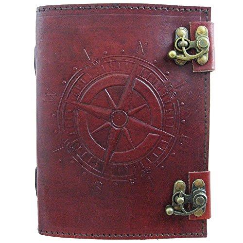 Compass Journal Handmade Leather Parchment Viatori product image