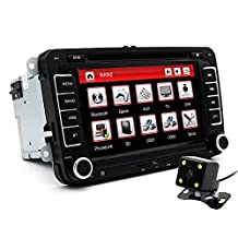 "junsun 7"" Double Din Car DVD GPS Radio Player For Volkswagen VW Golf 4 Golf 5 6 Touran Passat B6 Sharan Jetta Polo Tiguan With Free Gift"