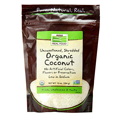 (NOW Foods, Organic Coconut, Unsweetened and Shredded, No Added Colors, Flavors or Preservatives, 10-Ounce)