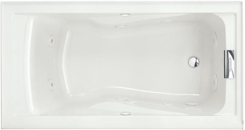 American Standard 2422VC.020 Evolution 5-Feet by 32-Inch Deep Soak Whirlpool Bath Tub with EverClean and Hydro Massage System I, White