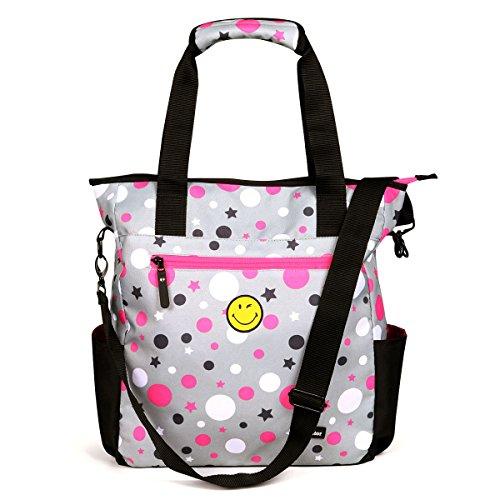 (Advocator Cute Emoji Smile Bag School Bookbag for Teens Girl)