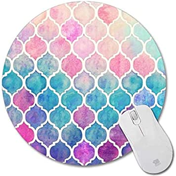 Shuangyi Beautiful Watercolor Flower Round Mouse pad Customized Non Slip Rubber Round Mouse pad Non Slip Rubber Mouse pad Gaming Mouse Pad