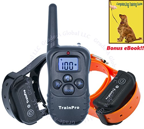 Good Bearded Halloween Costumes (TrainPro 330 Yard Remote Shock Dog Training eCollar with Rechargeable System and eBook)