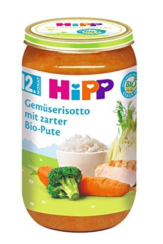 HiPP Gemüserisotto mit zarter Bio-Pute, 6er Pack (6 x 250 g) 157889 Menüs 250 g Mittagsmahlzeit Allergenarm