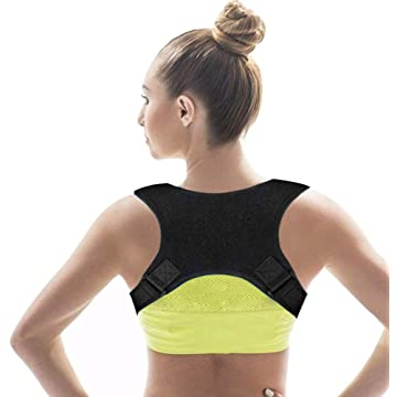 Asonway 【2019 New Version Back Posture Corrector for Men & Women, Upper Back Brace | Clavicle Support Device for Thoracic Kyphosis and Providing Pain Relief from Back Neck & Shoulder