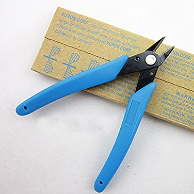 DHmart Electric Wire Cutting Pliers Cutter Shears Diagonal Side Cutting Pliers Nippers Plastic+steel Blue Diagonal Side Cutting Nipper