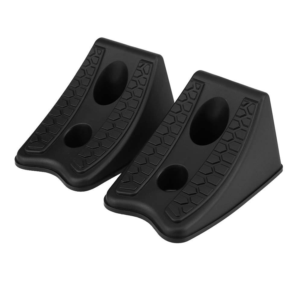 Akozon Calzo de goma para ruedas para remolques de autom/óviles camiones u otros neum/áticos de ruedas de veh/ículos universal 2PCS