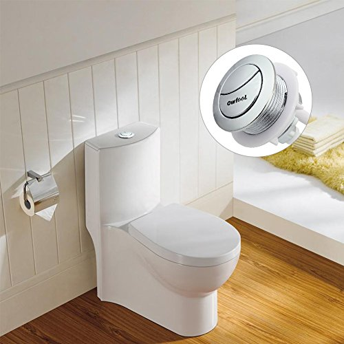 Owfeel Dual Push Flushing Toilet Button Toilet Tank Button 38mm Toilet Button Replaced Flush Button with Thread Diameter