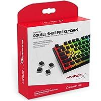 HyperX Juego de 104 Teclas de Teclas de Doble Disparo para Teclado mecánico, Color Blanco y Negro, Duradero, Compatible con Teclado mecánico de la Marca (HX-KBKC3), Perfil de OEM, 2 años de garantía