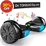 TOMOLOO Hoverboard Bluetooth LED Lights Two-Wheel Self Balancing Scooter UL2272 Certified, 6.5