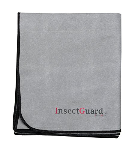 InsectGuard Pets - Permethrin Insect Repellent Treated 80 Inch Long by 60 Inch Wide Cover (Grey)