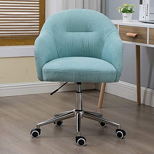 LIYANJJ svängbar stol med justerbar uppgiftsstol bekväm vadderad datorstol justerbar höjd svängbar stol barnstol, hem/kontorsmöbler