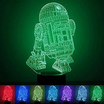 3D Illusion Light, 7Models Touch Control Optical Illusion LED Night Light con cable de carga para el hogar, niños, Star Wars Fans (Death Star) [Clase de eficiencia energética A+] Jane Choi