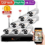 Corsee Auto Pair 8ch 960P Dvr Wireless Surveillance Camera System with Wifi Night Vision 720P Cameras and Easy View by Ios or Android App No Hard Drive