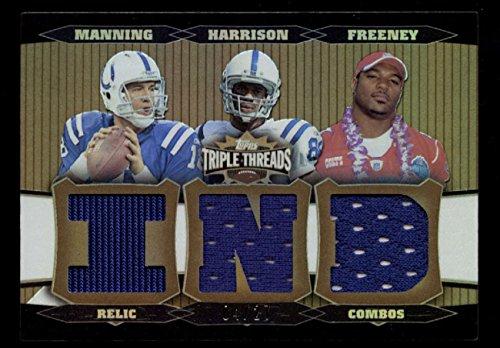 2006 Topps Triple Threads Peyton Manning Harrison Freeney Relic Combos 4/27 GU ()