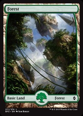 Magic: the Gathering - Forest (271) (271/274) - Battle for Zendikar - (Mtg Zendikar Foil)