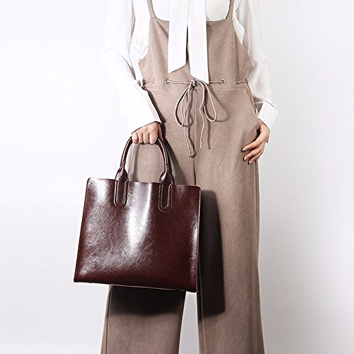 Bag handle Handbag Fashion Lf Elegant Coffee Cross Leather Shoulder Top Design Women Dissa body 1085 xOYwzaa