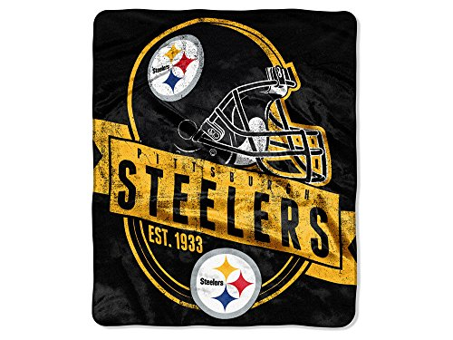 Pittsburgh Steelers Plush Fleece Raschel Blanket 50 x 60
