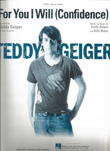 Sheet Music 2006 For You I Will (Confidence) Teddy Geiger 67